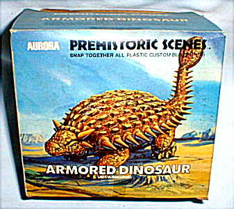 armored dinosaur aurora model kit