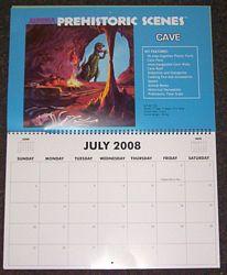 Dencomm 2008 Prehistoric Scenes calendar