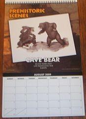 Dencomm 2009 Prehistoric Scenes calendar