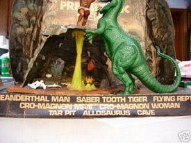 Prehistoric scenes cave display