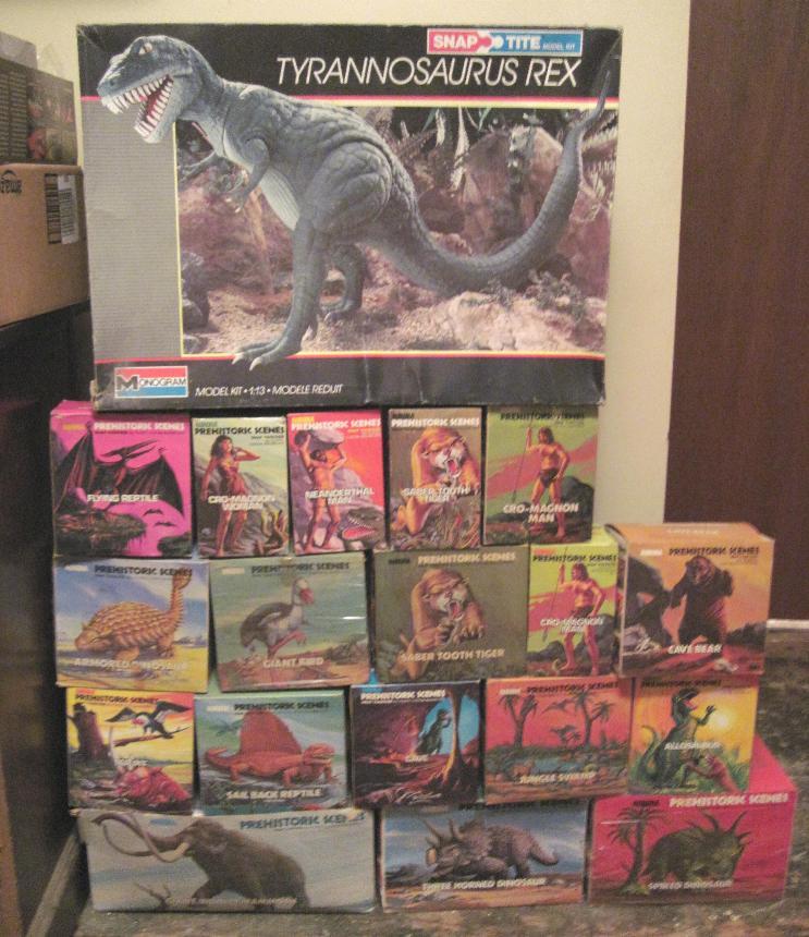 Aurora prehistoric scenes model kits