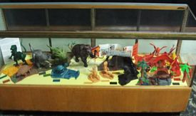 Prehistoric Scenes display