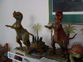 Aurora Prehistoriic Scenes built up models