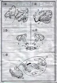 aurora prehistoric scenes instruciton sheet