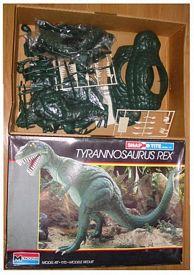 Monogram 1988 tyrannosaurus model