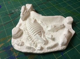 Aurora prehistoric scenes resin model add on