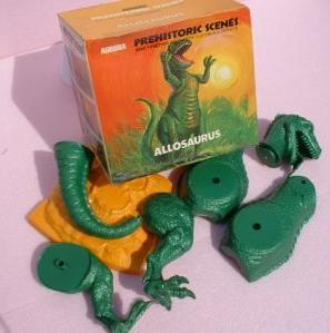 Aurora allosaurus dinosaur model