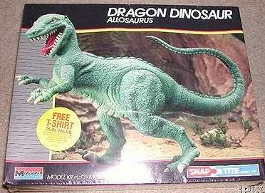 Monogram 1988 Allosaurus model box