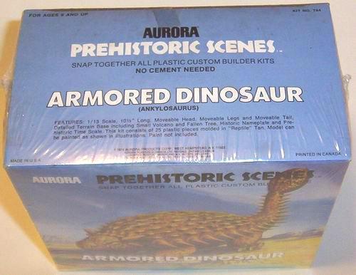 armored dinosaur model box