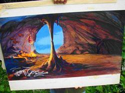 aurora cave model artwork