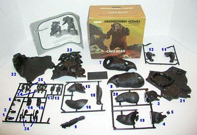 Cave Bear model parts list
