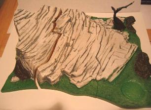 Prehistoric scenes mammoth display