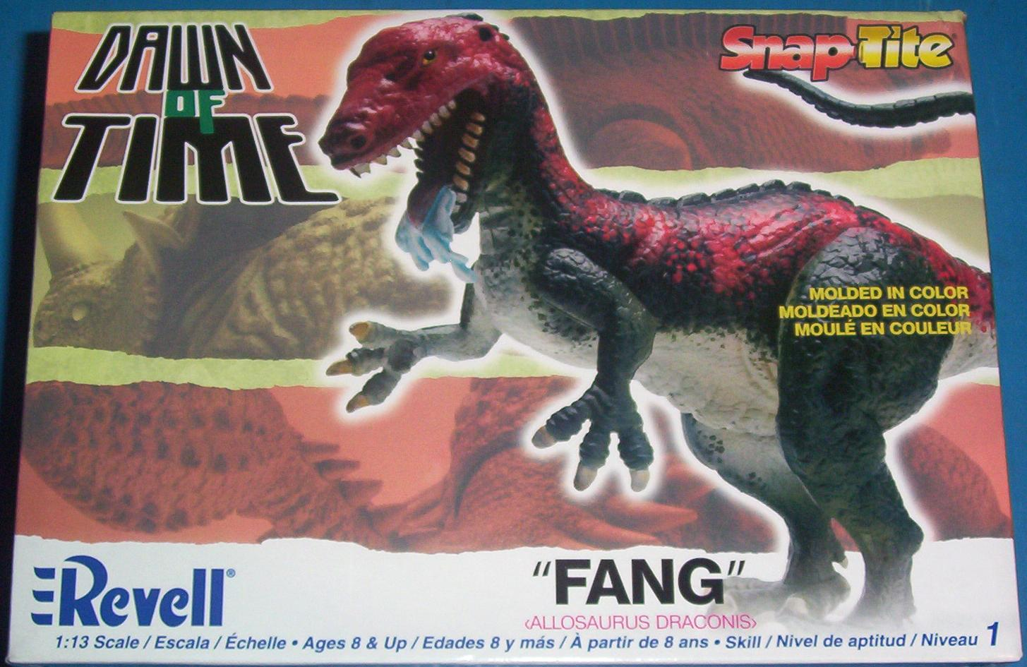 Revell 2007 allosaurus dinosaur model box