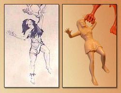 aurora cromagnon woman model kit