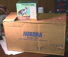 aurora shipping carton