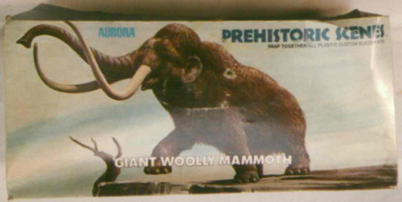 Aurora 1972 mammoth model box