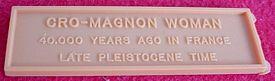aurora cromagnon woman nameplate