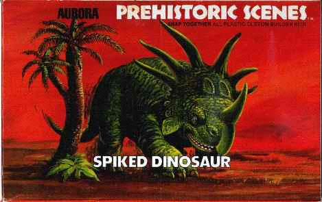 Aurora 1972 spiked dinosaur box