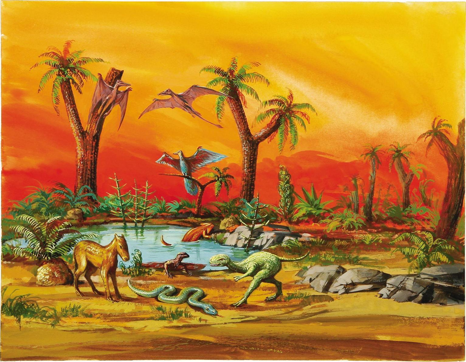 jungle swamp original art