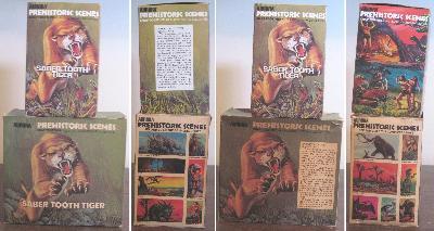 Aurora Sabertooth Tiger  model box