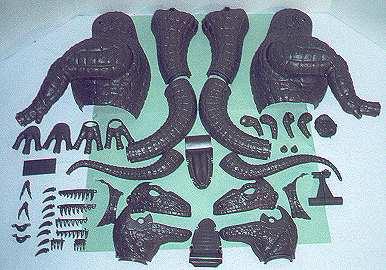 tyrannosaurus model parts