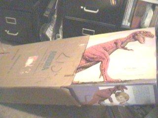 tyrannosaurus rex shipping carton