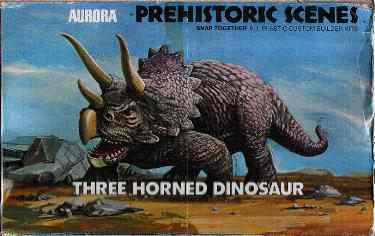 Aurora 1972 three horned dinosaur box