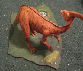 my Parasaurolophus buld up