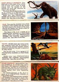 Aurora prehistoric scenes Pom Poms box