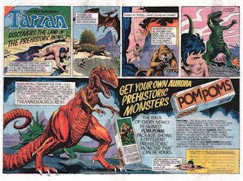Aurora prehistoric scenes Pom Poms Ad