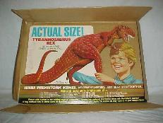 Prehistoric scenes tyrannosaurus rex display