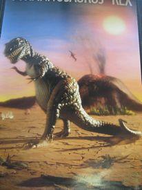 Prehistoric scenes poster