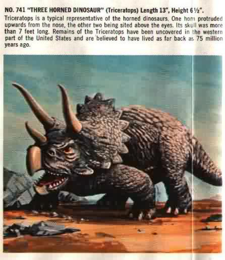 three horned dinosaur