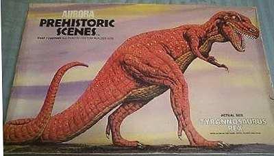 tyrannosaurus rex aurora model kit